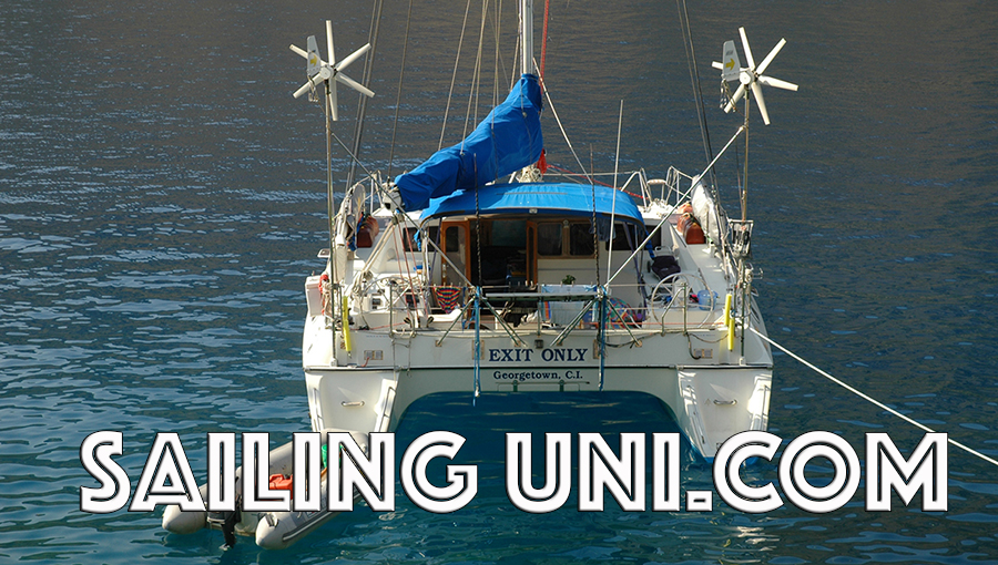 Sailing Uni - 11 year sailing voyage around the world on Exit Only - Positive Thinking Doctor - David J. Abbott M.D.