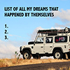 A list of all my dreams that happened by themselves - Positive Thinking Network - Positive Thinking Doctor - David J. Abbott M.D.