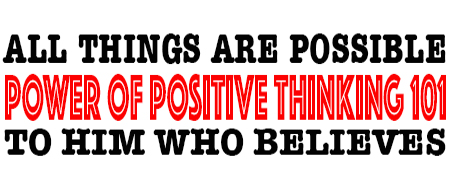 POWER OF POSITIVE THINKING 101 - POSITIVE THINKING DOCTOR - DAVID J. ABBOTT M.D.
